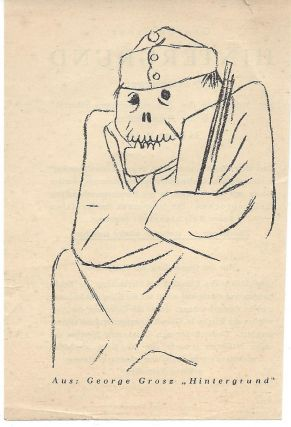 Promotional Leaflet for George Grosz's Hintergrund