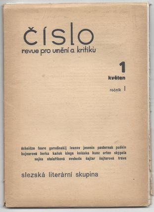 Cislo: revue pro umeni a kritiku. 1 kveten, rocnik I. [Number: The Art and Criticm Review. Issue 1, No. I.]