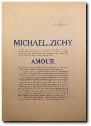 Amour (Subscription invitation for a never published Zichy album). Michael de Zichy