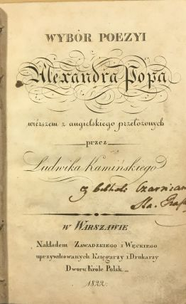 Wybor poezyi (Selected poems). Alexandra Popa, Alexander Pope