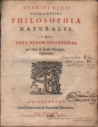 Philosophia Naturalis; in qua Tota Rerum Universitas, per clara & facilia Principia, explanatur....