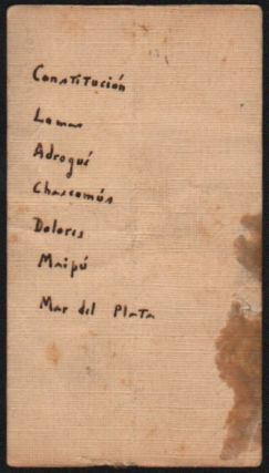 Borges' Visiting Card With Holograph Greeting.