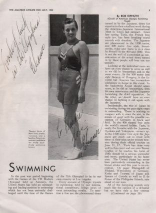 The Amateur Athlete. Official Publication A[mateur]. A[thlete]. U[nion]. of the United States. Olympic Issue. July, 1932.