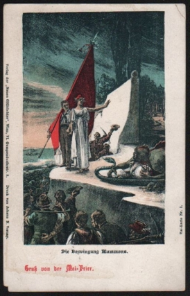 Mai-Karte Nr. 1., 2. (Die Bezwingung Mammons [The Defeat of Mammon], Völkermai [People's May