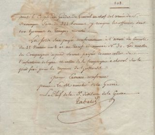 The organization of the General Corps of Saint-Domingue.] Extrait de l'arrêté de Consule en...