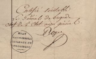 Register of deceased of the French Army in Saint-Domingue. Pierre François Joseph Boyer