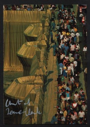 The Pont Neuf Wrapped, Paris, 1975–85. Signed Postcard. Christo, Jeanne-Claude, photographer,...