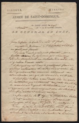 Genereal Leclerc's Handwritten Letter, on October 10, 1802. Charles Leclerc