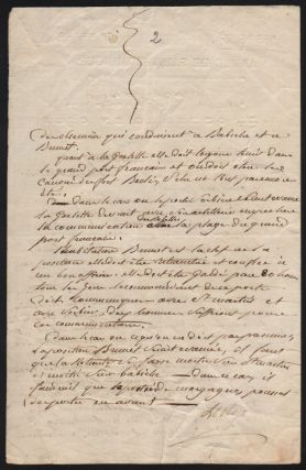 Genereal Leclerc's Handwritten Letter, on October 10, 1802.