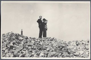 Collection of Five Photographs of the Ruins of the Warsaw Ghetto.