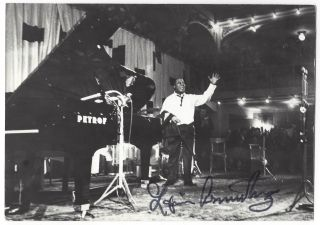 Signed photo of Louis Armstrong. Louis Armstrong.