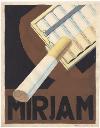 Original Design for Advertisement Poster of Mirjam Cigarette. Vilmos Dernesch